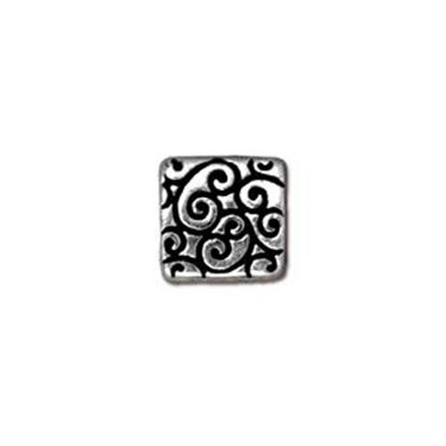 Tierra Cast Metal 1 Adet 9.5X9.25 Mm Gümüş Rengi Kare Aksesuar Boncuk - 94-5673-12