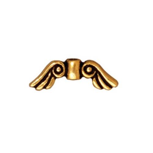 Tierra Cast Metal 1 Adet 5X14.25 Mm Altın Rengi Melek Kanadı Aksesuar Boncuk - 94-5674-26