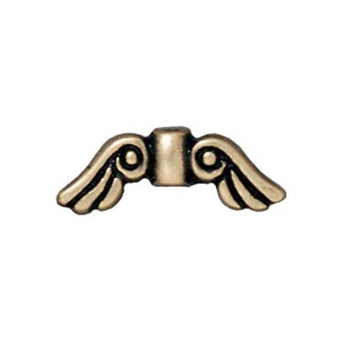 Tierra Cast Metal 1 Adet 5X14.25 Mm Altın Rengi Melek Kanadı Aksesuar Boncuk - 94-5674-27