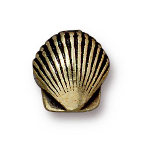 Tierra Cast Metal 1 Adet 9X8.5 Mm Altın Rengi Deniz Kabuğu Boncuk - 94-5682-27