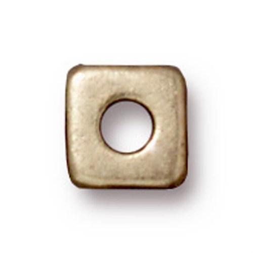 Tierra Cast Metal 1 Adet 6 Mm Altın Rengi Orta Küp Aksesuar Boncuk - 94-5789-27