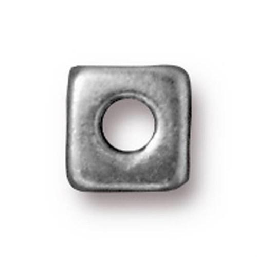 Tierra Cast Metal 1 Adet 6 Mm Gümüş Rengi Orta Küp Aksesuar Boncuk - 94-5789-40