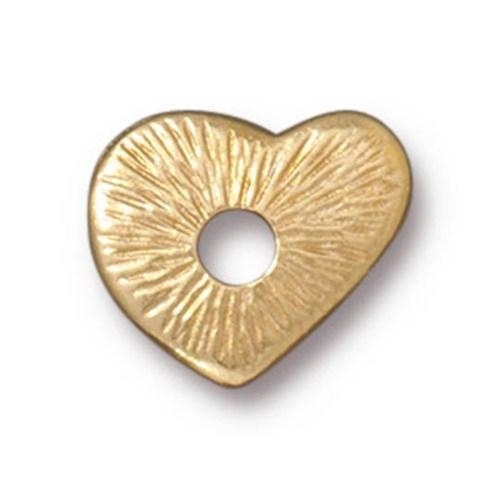 Tierra Cast Rivetable 1 Adet 12.7 Mm Altın Rengi Kalp Takı Ara Aksesuarı - 94-5797-25