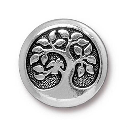 Tierra Cast 1 Adet 17 Mm Gümüş Rengi Daldaki Kuş Aksesuar Düğme - 94-6577-12