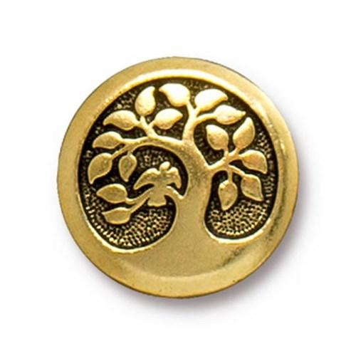 Tierra Cast 1 Adet 17 Mm Altın Rengi Daldaki Kuş Aksesuar Düğme - 94-6577-26