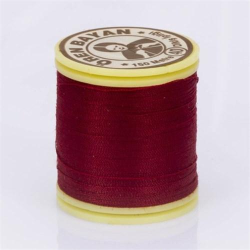 Ören Bayan Koyu Kırmızı Polyester Dikiş İpliği - 413