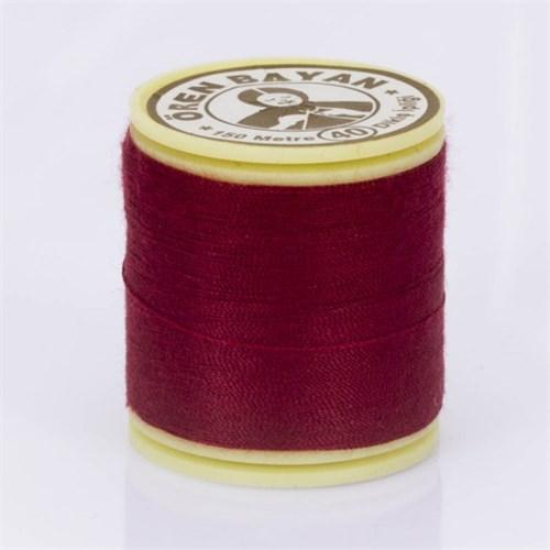 Ören Bayan Koyu Kırmızı Polyester Dikiş İpliği - 409