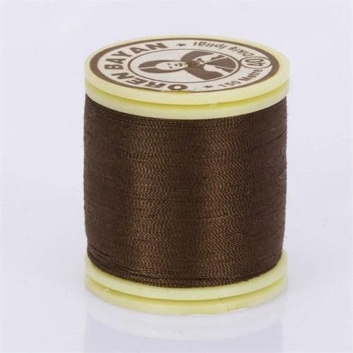 Ören Bayan Koyu Kahverengi Polyester Dikiş İpliği - 336