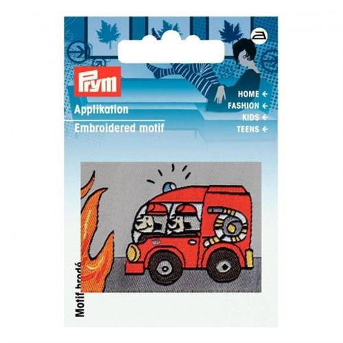 Prym Kırmızı İtfaiye Arabası Desenli Aplike - 923108
