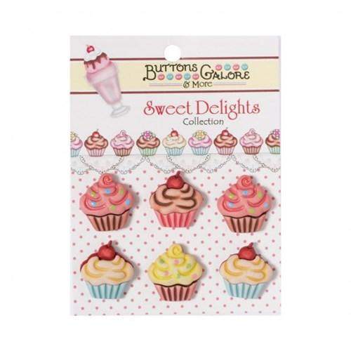 Kartopu Cupcake Şeklinde Dekoratif Düğme - Sd101