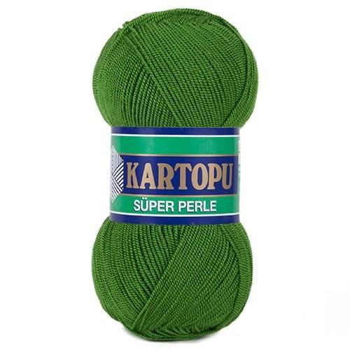 Kartopu Süper Perle Çimen Yeşili El Örgü İpi - K392