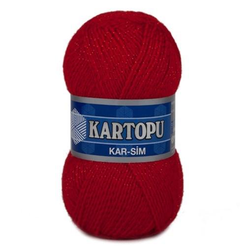 Kartopu Kar-Sim Kırmızı El Örgü İpi - K150
