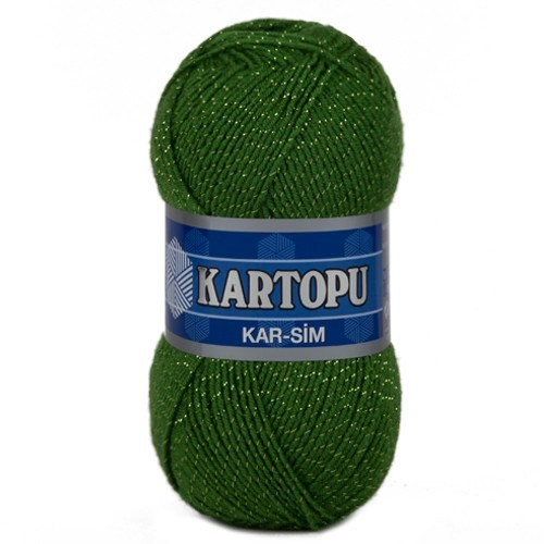 Kartopu Kar-Sim Çimen Yeşili El Örgü İpi - K392