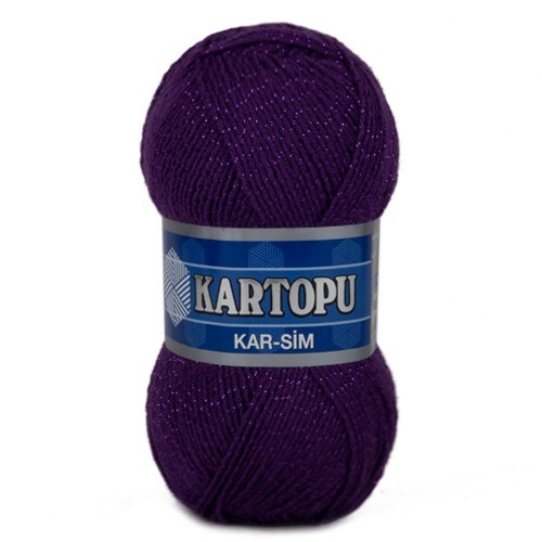 Kartopu Kar-Sim Koyu Mor El Örgü İpi - K725