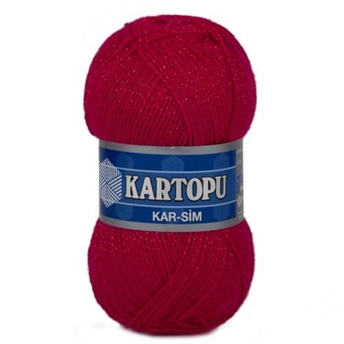Kartopu Kar-Sim Kırmızı El Örgü İpi - K731
