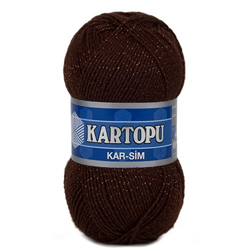 Kartopu Kar-Sim Koyu Kahverengi El Örgü İpi - K890