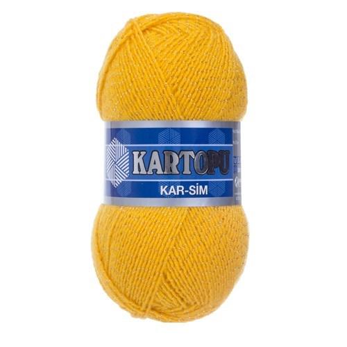 Kartopu Kar-Sim Sarı El Örgü İpi - K320