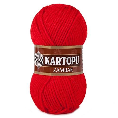 Kartopu Zambak Kırmızı El Örgü İpi - K150