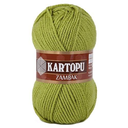 Kartopu Zambak Yeşil El Örgü İpi - K442