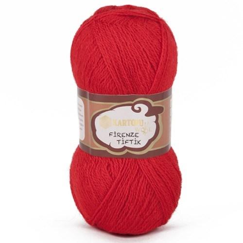 Kartopu Firenze Tiftik Kırmızı El Örgü İpi - K150
