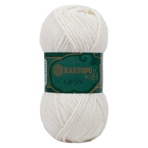 Kartopu Gipsy Beyaz El Örgü İpi - K010