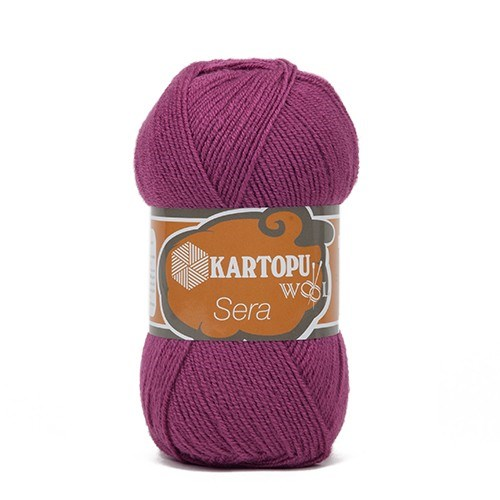 Kartopu Sera Mor El Örgü İpi - K736
