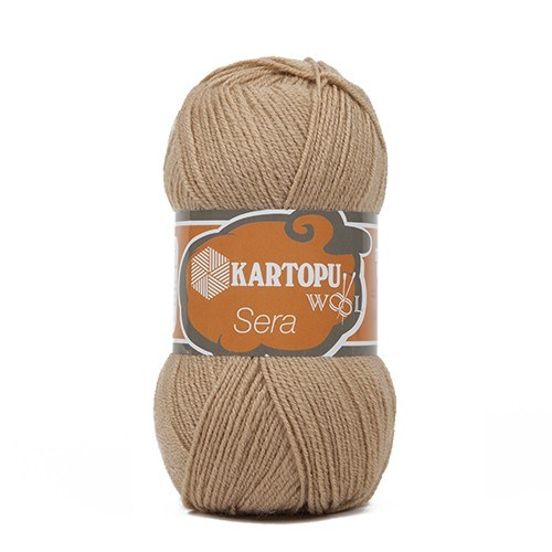 Kartopu Sera Bej El Örgü İpi - K837