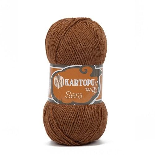 Kartopu Sera Kahverengi El Örgü İpi - K882