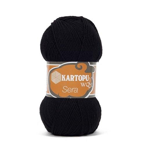 Kartopu Sera Siyah El Örgü İpi - K940