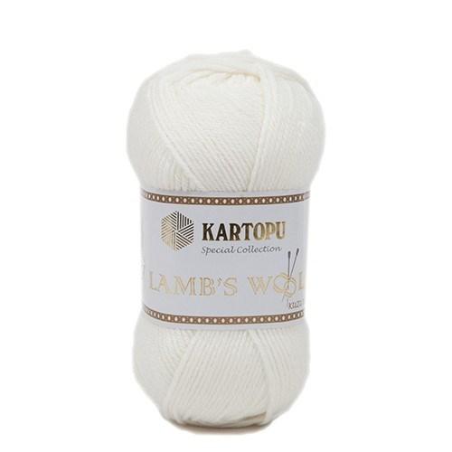 Kartopu Lamb's Wool Beyaz El Örgü İpi - K013