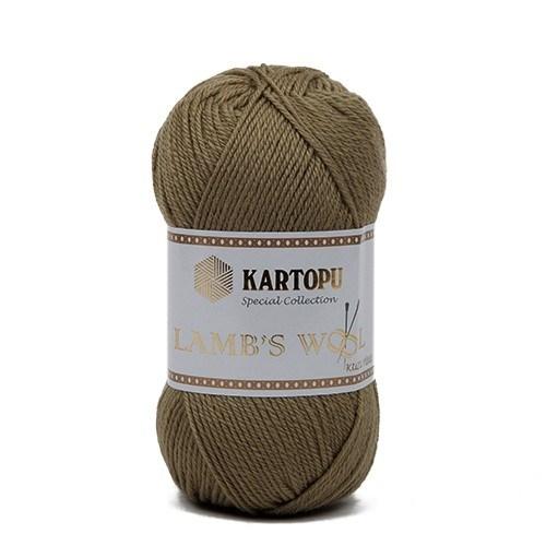 Kartopu Lamb's Wool Yeşil El Örgü İpi - K372
