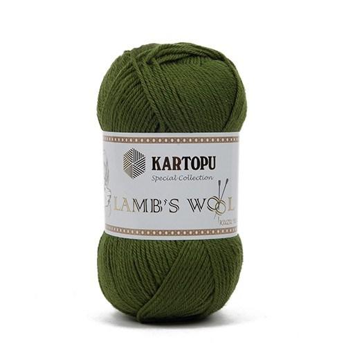 Kartopu Lamb's Wool Yeşil El Örgü İpi - K417