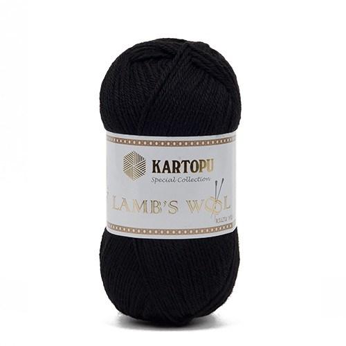 Kartopu Lamb's Wool Siyah El Örgü İpi - K940
