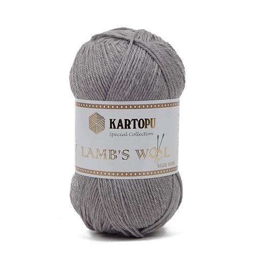 Kartopu Lamb's Wool Gri El Örgü İpi - K1001