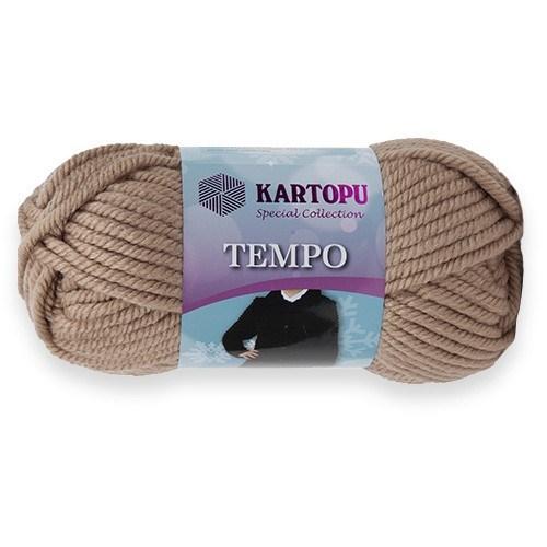 Kartopu Tempo Bej El Örgü İpi - K886