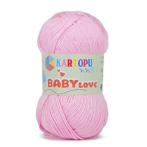 Kartopu Baby Love Pembe Bebek Yünü - K782