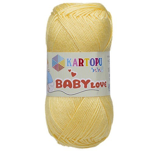 Kartopu Baby Love Açık Sarı Bebek Yünü - K330