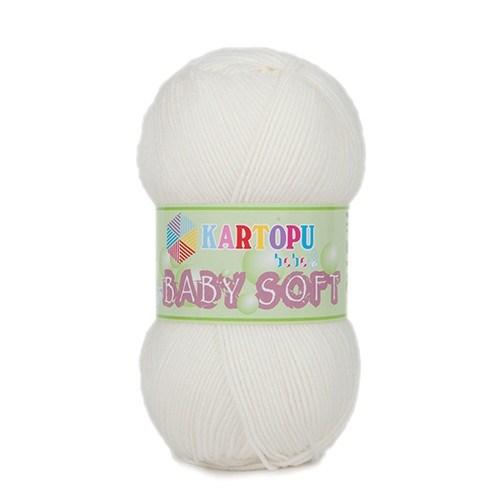 Kartopu Baby Soft Beyaz Bebek Yünü - K019
