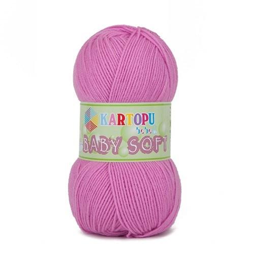 Kartopu Baby Soft Pembe Bebek Yünü - K807