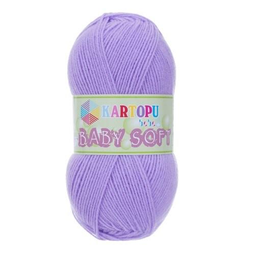 Kartopu Baby Soft Mor Bebek Yünü - K697