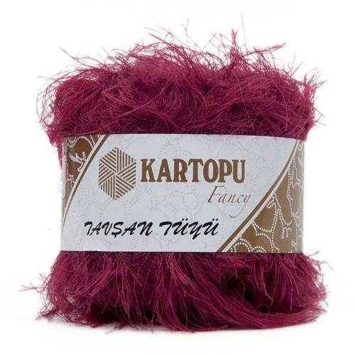Kartopu Tavşan Tüyü Mor El Örgü İpi - Kf3007
