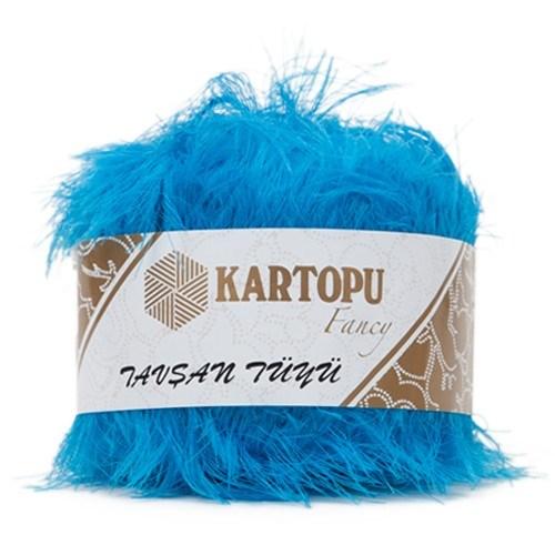 Kartopu Tavşan Tüyü Mavi El Örgü İpi - K515
