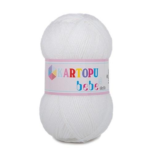 Kartopu Bebe Beyaz Bebek Yünü - K001