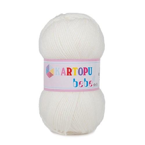 Kartopu Bebe Beyaz Bebek Yünü - K019