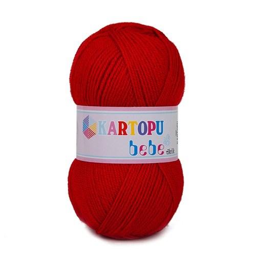 Kartopu Bebe Kırmızı Bebek Yünü - K150