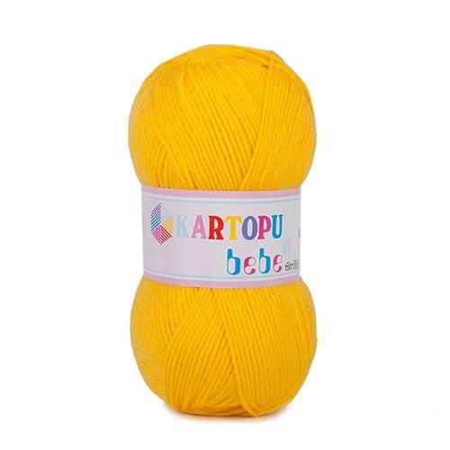 Kartopu Bebe Sarı Bebek Yünü - K322