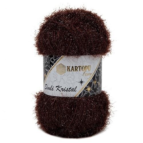 Kartopu Simli Kristal Kahverengi El Örgü İpi - K890