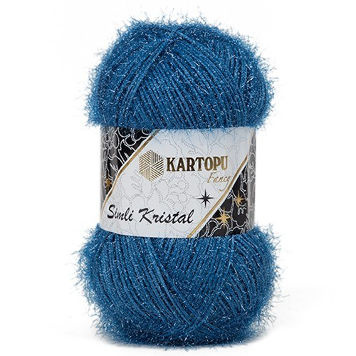 Kartopu Simli Kristal Mavi El Örgü İpi - K522