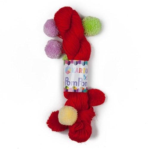 Kartopu Bebe Pompon Kırmızı Bebek Yünü - K150