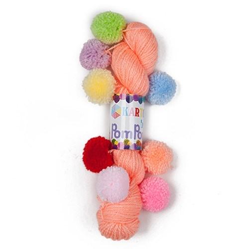 Kartopu Bebe Pompon Turuncu Bebek Yünü - K218